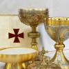 Credens Eucharistie kelk hosties wijn Lichaam en Bloed