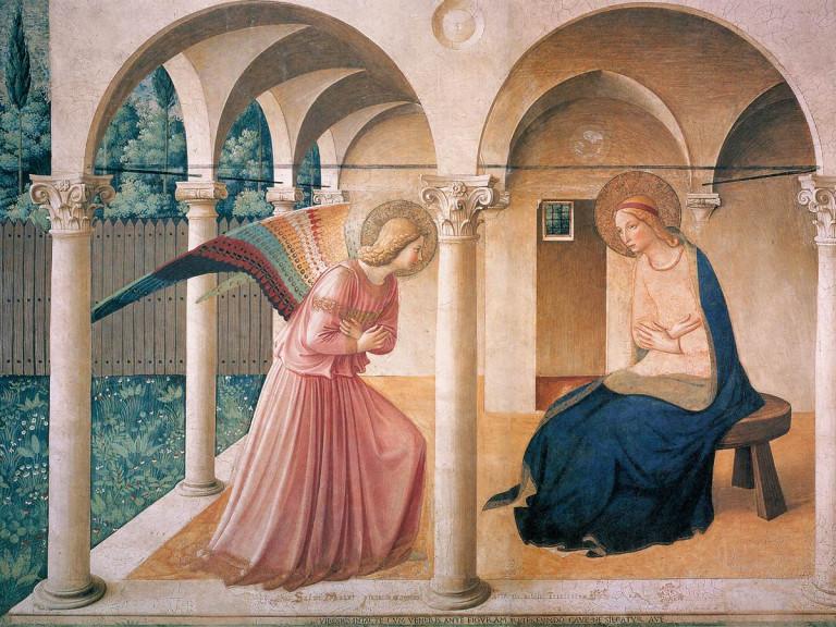 Aankondiging engel Gabriël bij Maria - fra Angelico - Mensgeworden Woord